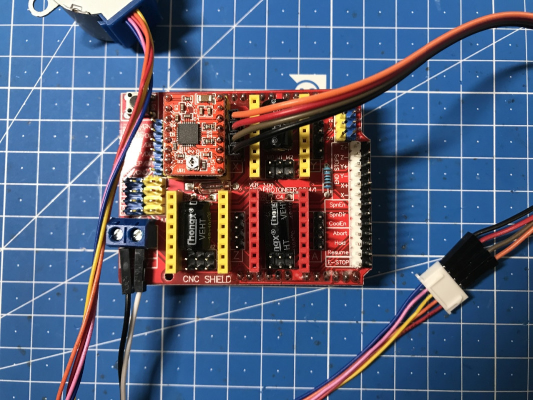 Arduino CNC Shield + driver A4988 + motor 28BYJ-48